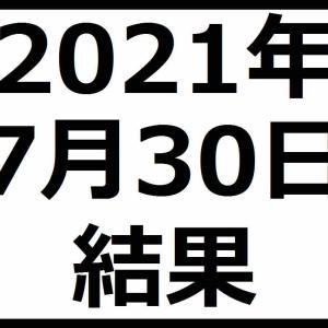 2021年7月30日結果 含み損が過去最大に