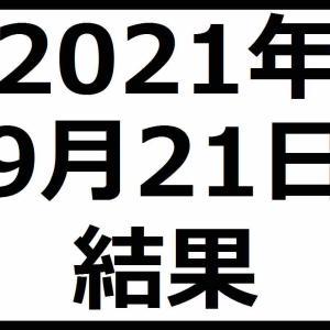 2021年9月21日結果 寄り付きチャンスもノートレードでフィニッシュです