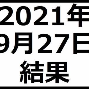 2021年9月27日結果 アフターコロナ銘柄が強し