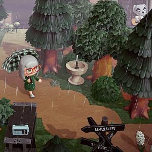 もう一度あつ森50日目 今日も雨