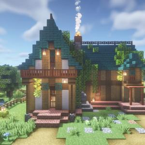 minecraftbuilds アカシアのドアの家
