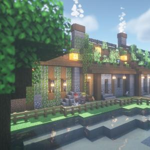 minecraftbuilds 村人長屋ハウス