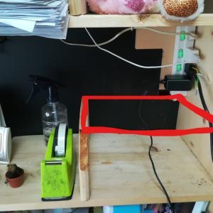 子どもの机の棚の改造