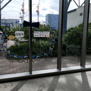 みんなの庭、さつまいも植え/感想/横浜マークイズ