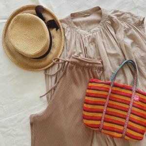 【ナチュラルファッション】暑い日の最強コーデはやっぱりワンピースとリブパンツ!