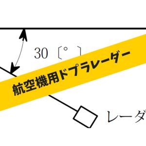 航空機用ドプラレーダーによる対地速度