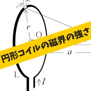 円形コイルの中心軸上の磁界の強さ