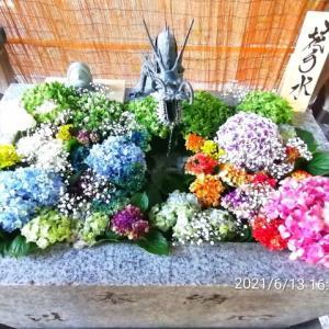 ♡神社の花手水♡