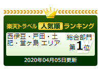 楽天トラベル☆お客様クチコミ人気宿☆ランキングで1位に返り咲きました\(^o^)/