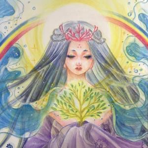 田心姫さまと虹と樹のシンクロ