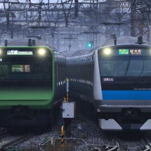 [山手線・京浜東北線]雨の東京駅 E235系とE233系