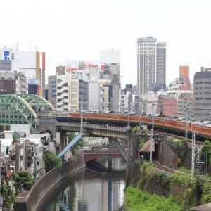 [聖橋]秋葉原・御茶ノ水を通過する113系電車 廃車回送