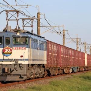 [貨物列車]EF65-2063(JRF30周年記念HM付) 鹿島貨物 フルコンテナ