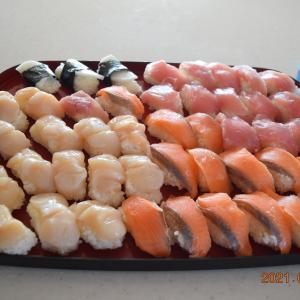 朝から寿司45個