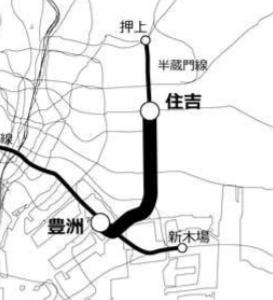 地下鉄8号線(有楽町線・豊洲-住吉)の計画が進む可能性
