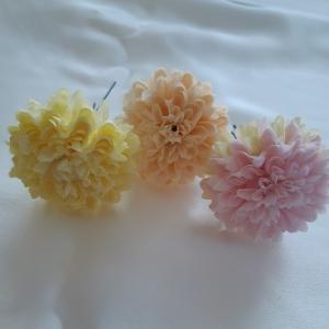 髪飾り ポンポンマム(造花)uピン