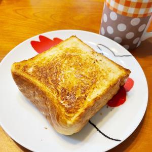 「今日の朝パンは、厚切りトースト」と「家事ってホント大変」