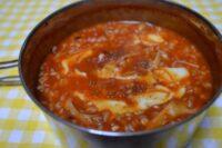 簡単激辛トマト缶のチーズリゾット
