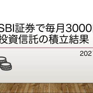 【SBI証券】毎月3000円で投資信託の積立状況【結果考察】