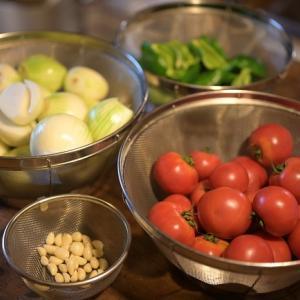 夏野菜収穫からのトマトソースづくり