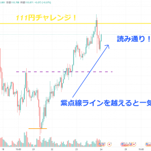 【 ポジポジ病太朗の短期エントリー~21/6/23 米ドル/円 編~ 】