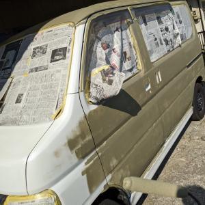 DIY(ローラーと刷毛)で車を全塗装「2」もう水道業者とは言わせない!(1日目)