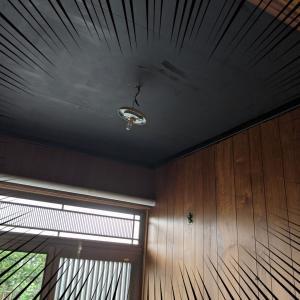 盛岡市内200万円の中古戸建「20」玄関の天井を黒で塗る!