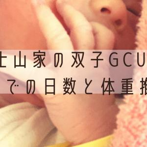 富士山家の双子GCU退院までの日数と体重推移