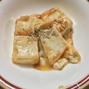 「木綿豆腐のケチャップウスターソースステーキ」固めの豆腐使おう