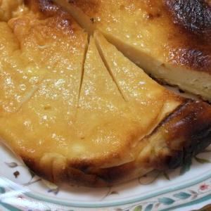 「豆乳とヨーグルトのチーズケーキ」はちみつ入れたらなぜかショウガ味!