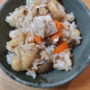 「鶏肉としめじとちくわの炊き込みご飯」ノーマルな炊き込みご飯