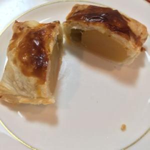 「うぐいす豆と栗のパイ」うぐいす豆の塩気が栗の甘さを引き立たせる