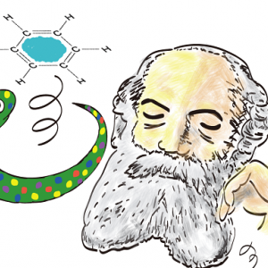 ヘビの夢見て 炭素原子の「カメの甲」構造を発見