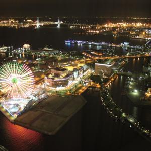 横浜のテッペンからの夜景