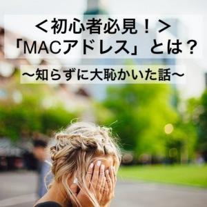 【初心者必見!】「MACアドレス」とは?〜知らずに大恥かいた話〜
