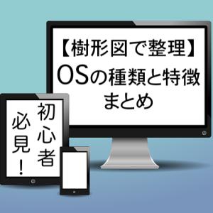 【樹形図で整理】OSの種類と特徴まとめ(初心者必見!)