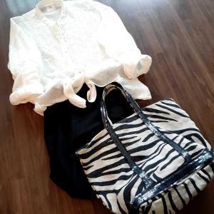 今日の服。メゾンドソイルとゼブラ🦓BTSアルバム。