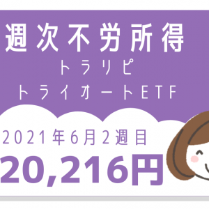 【最新】1週間の不労所得は20,212円