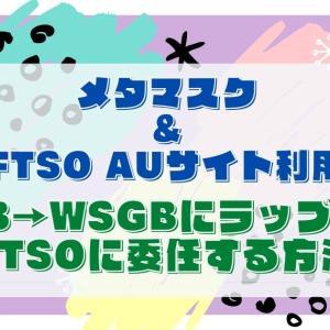 【メタマスク利用】FTSO AUのサイトからSGB→WSGBにラップして委任する方法