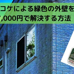 【外壁のコケ落とし】7,000円で緑色になった家の白さを取り戻した方法!※画像あり