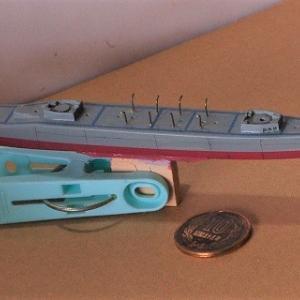 海上自衛隊護衛艦「はるさめ」を作る (ボートダビット)