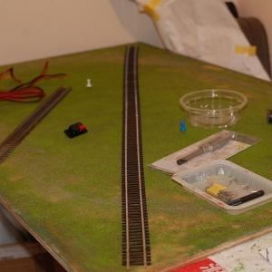 鉄道模型試験走行用小型レイアウトを作る  (フレキシブルレール・・・?)