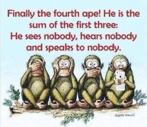 現状の人類を風刺した絵ですが、ぴったりと当たっています!