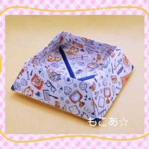 ダイソーの折り紙で小物入れを作る