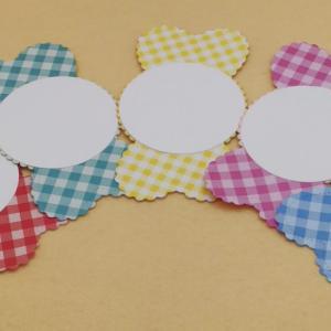 キャンディ型のメッセージカード