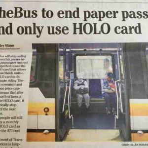 1カ月と1日の紙製バスパスが廃止