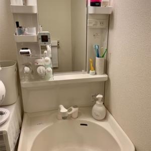 34㎡ふたり暮らしの狭い洗面台こうしています