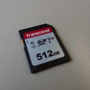 コスパ最高!Transcend SDカード 512GB