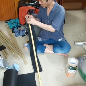 【熱き浪人】制作 殺陣練習用の袋竹刀を作りました。やっぱり小道具はこだわりのカスタム製ですね
