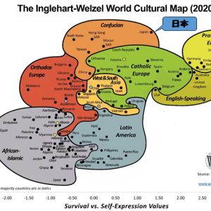 文化マップの見方と日本の位置~世界価値観調査を見る